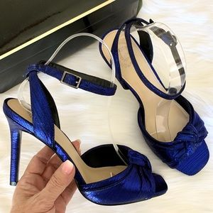 Royal blue I. Miller ankle strap party heels